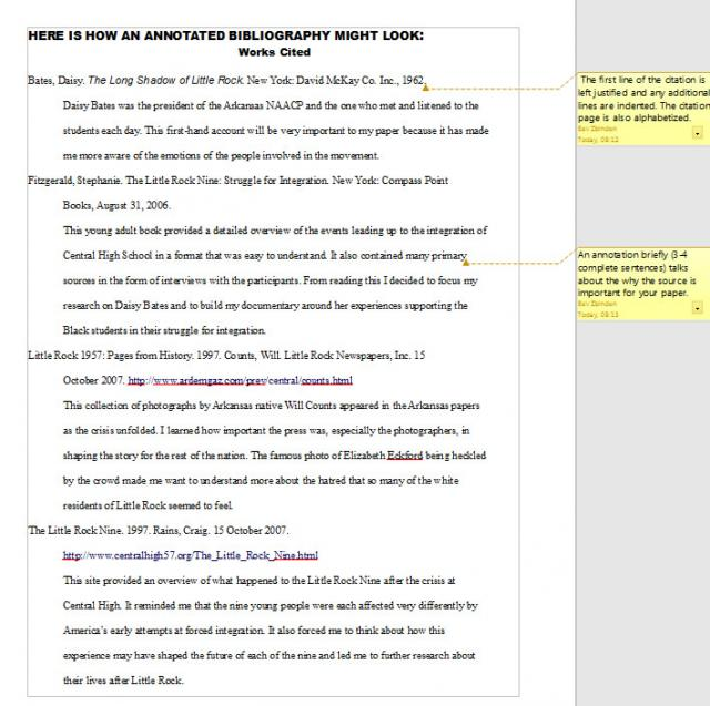 Writing An Annotated Bibliography Mla Style Research Paper Help